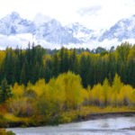 Clearing Sept. storm Tetons WY